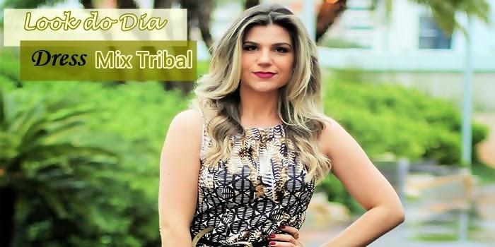 Look do Dia: Vestido Print Tribal Cantão