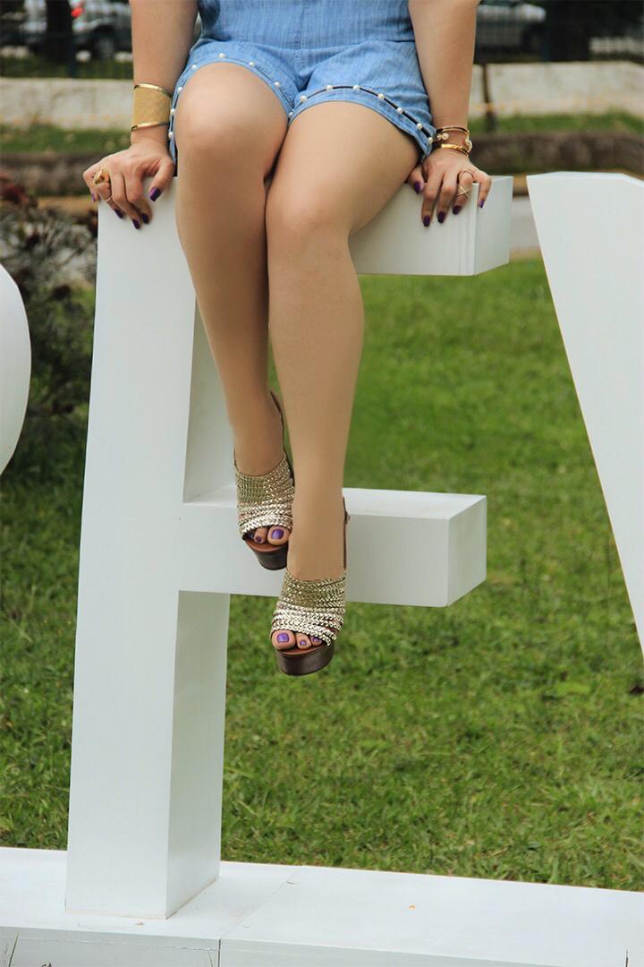 Sandalia salto bloco Di Cristalli Verão 16