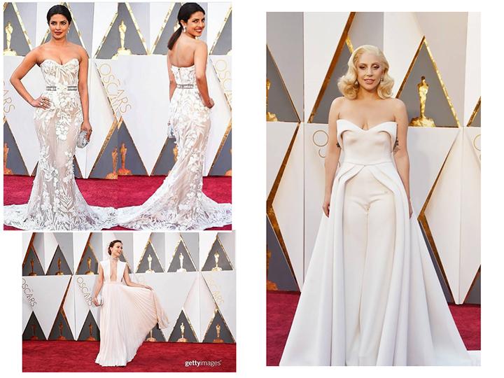 Priyanka Chopra de Zuhair Murad _ Olivia Wilde de Maison Valentino - Lady Gaga de Brandon Maxwell