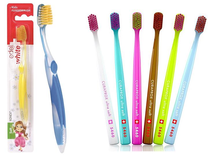 Escova dente Edel White x Curaprox NKS