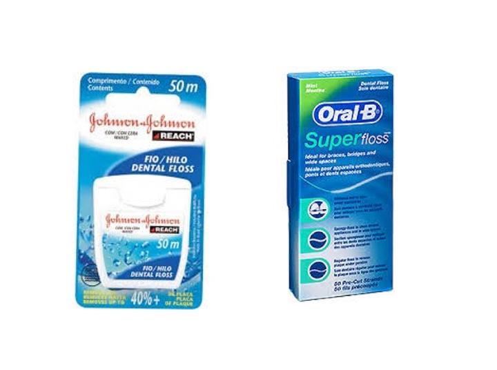 Fio dental Johnson reach x Oral B Super Floss NKS