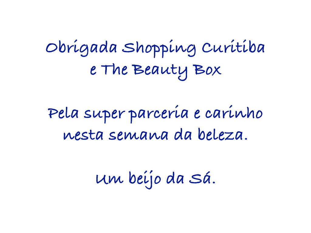 Semana da Beleza Shopping Curitiba e The Beauty Box