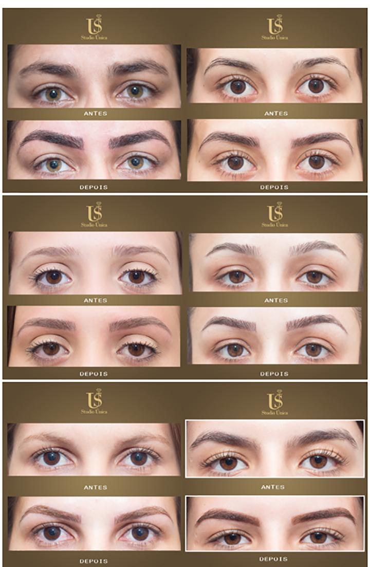 Design e micropigmentação de sobrancelhas Studio Unica