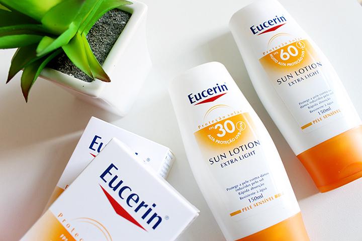 protetores Eucerin para cuidados da pele