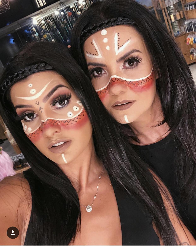 Maquiagem de india para o carnaval
