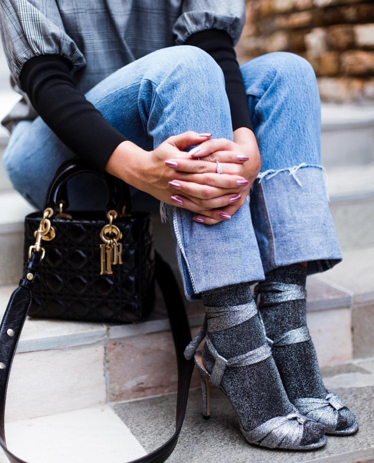 Tendencia inverno 18 meia e sandalia