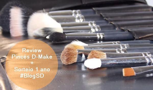 Resenha Pincéis D-Make by Debby Shop