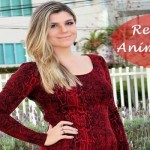 Meu look: Red Dress Animal Print